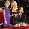 Reese Witherspoon avec ses enfants Ava et Deacon - L'actrice reçoit son étoile sur le Walk of Fame à Los Angeles à Hollywood en 2010