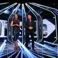 """Sandrine Quétier accompagnée de Nikos Aliagas lors de sa dernière sur TF1 dans """"50' Inside"""" samedi 30 décembre 2017."""