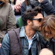 Maxim Nucci (Yodelice) et Isabelle Ithurburu dans les tribunes des Internationaux de France de tennis de Roland Garros à Paris. Le 24 mai 2016 © Dominique Jacovides / Bestimage