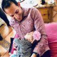 """"""" Renaud Lavillenie fête son premier Noël avec sa fille Iris, 5 mois. Instagram le 25 décembre 2017.  """""""