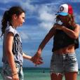 Axelle Laffont en vacances avec sa fille Mitty à l'autre bout du monde. Janvier 2018.