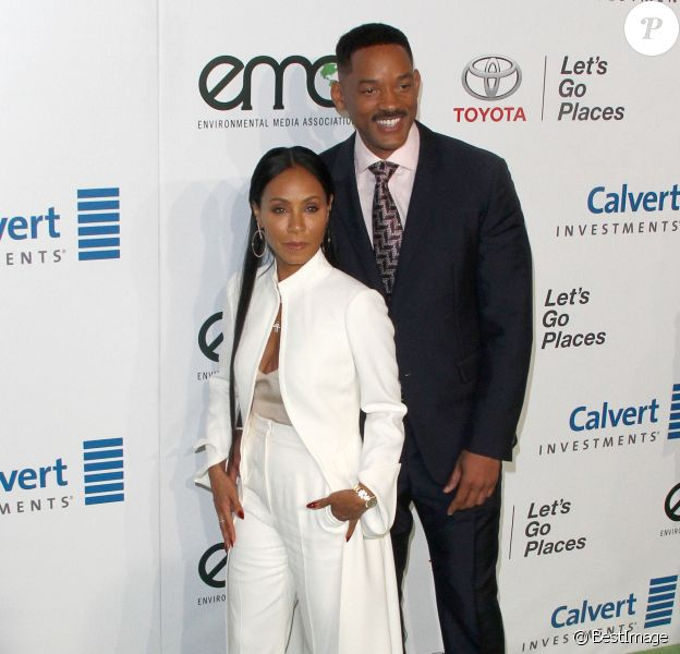 Will Smith et sa femme Jada Pinkett - Célébrités arrivant au 26ème EMA Awards au studio de la Warner à Burbank le 22 octobre 2016