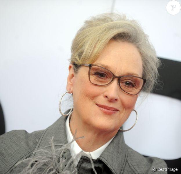 """Meryl Streep - Les célébrités arrivent à la première de """"The Post"""" (Pentagon Papers) à Washington le 14 decembre 2017."""