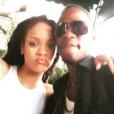Rihanna et son cousin Tavon Kaiseen Alleyne sur une photo publiée sur Instagram en février 2017.