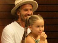 David Beckham : Tendre photo avec sa fille Harper... Et un spaghetti !