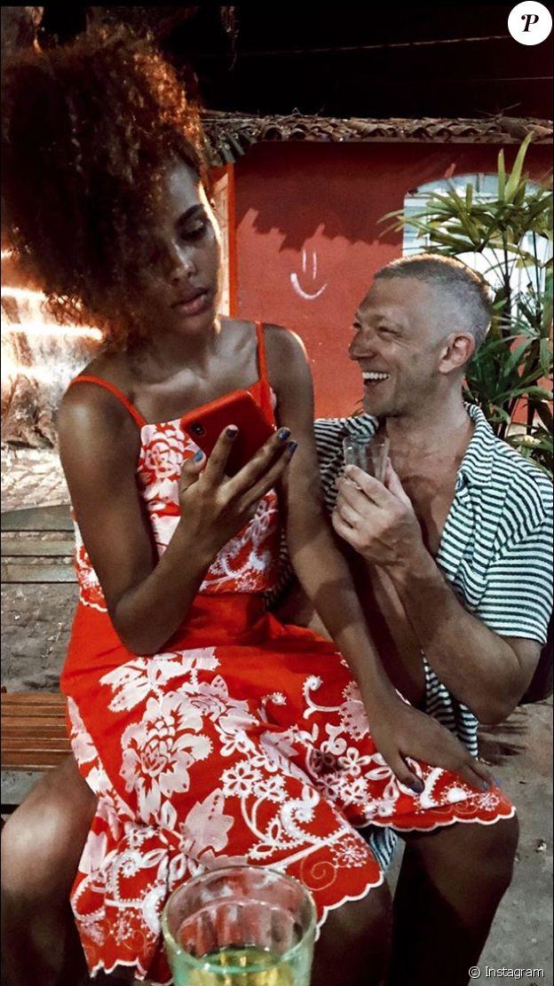Vincent Cassel et Tina Kunakey toujours amoureux. Janvier 2018.