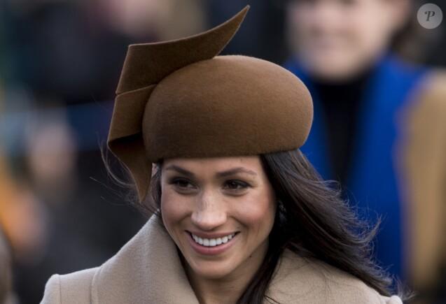 Meghan Markle - La famille royale d'Angleterre arrive à la messe de Noël à l'église Sainte-Marie-Madeleine à Sandringham, le 25 décembre 2017.