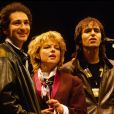 France Gall, Michel Berger, Jean-Jacques Goldman en 1985.