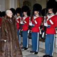 La reine Margrethe II de Danemark lors de la dernière réception du Nouvel An au palais de Christiansborg à Copenhague le 4 janvier 2018