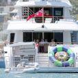 Exclusif - La princesse Mary et le prince Frederik de Danemark sur un yacht au large de Sydney en Australie le 13 décembre 2017, qu'ils ont loué le temps de leurs vacances pour les fêtes de fin d'année.