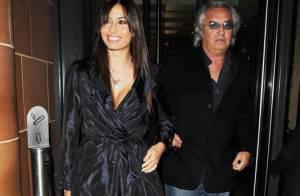 Flavio Briatore sort avec sa femme qui sort... son décolleté !