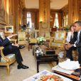 Les présidents Barack Obama et Nicolas Sarkozy à L'Elysée le 25 juillet 2008