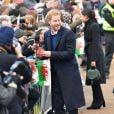 Le prince Harry et Meghan Markle visitent le château de Cardiff le 18 janvier 2018.