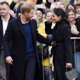 Le prince Harry et Meghan Markle en visite au château de Cardiff le 18 janvier 2018.