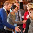 Le prince Harry et sa fiancée Meghan Markle visitent le château de Cardiff le 18 janvier 2018.