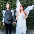 Darren Criss et sa compagne Mia Swier, ici lors d'Halloween 2017, se sont fiancés le 19 janvier 2018. Photo Instagram.