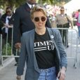"""Scarlett Johansson - Les célébrités quittent la manifestation géante aux États-Unis pour la 2e """"Marche des femmes"""" anti-Trump à Los Angeles le 20 janvier 2018.  Celebrities leave the 2018 Los Angeles Women's March in Los Angeles January 20th, 2018.20/01/2018 - Los Angeles"""