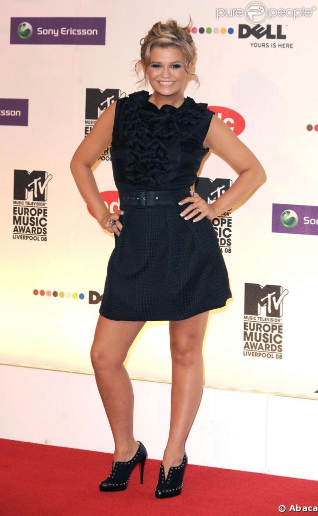 Kerry Katona, ancien membre des Atomic Kitten, au MTV Music Video Awards à Liverpool en septembre 2008