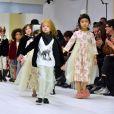 Défilé de mode Bonpoint, collection hiver 2018 au magasin Bonpoint, rue de Tournoi. Paris le 24 janvier 2018. © Giancarlo Gorassini/Bestimage
