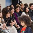 Anais Demoustier, Mélanie Bernier, Inès Sastre, Louise Monot et Jean Francois Piège - Défilé de mode Bonpoint, collection hiver 2018 au magasin Bonpoint, rue de Tournoi. Paris le 24 janvier 2018.