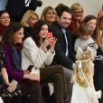 Mélanie Bernier, Inès Sastre, Louise Monot et Jean Francois Piège - Défilé de mode Bonpoint, collection hiver 2018 au magasin Bonpoint, rue de Tournoi. Paris le 24 janvier 2018.