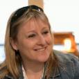 """Julie et Stéphane lors des speed dating de """"L'amour est dans le pré 2017"""" sur M6. Le 10 juillet 2017."""