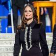 La princesse Sofia de Suède lors de la cérémonie de remise des diplômes du Sophiahemmet le 18 janvier 2018 à Stockholm.