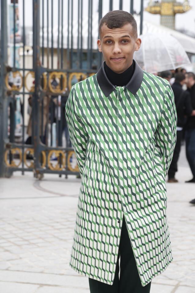 Stromae - Défilé de mode prêt-à-porter Automne Hiver 2015, 2016. Valentino dans les jardins des Tuileries à Paris. Le Mardi 10 Mars 2015.