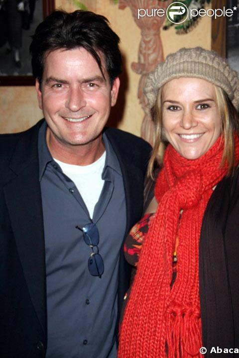 Charlie Sheen et sa femme Brooke Mueller en janvier 2009