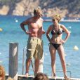 Gordon Ramsay et sa femme en vacances à Saint-Tropez, en 2008