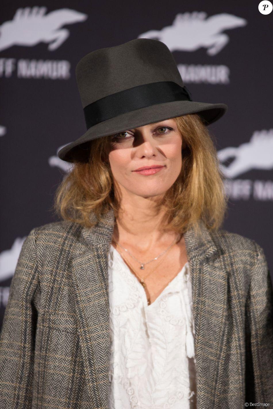 """Vanessa Paradis au photocall du film """"Chien"""" au 32ème festival international du film francophone de Namur le 5 octobre 2017."""