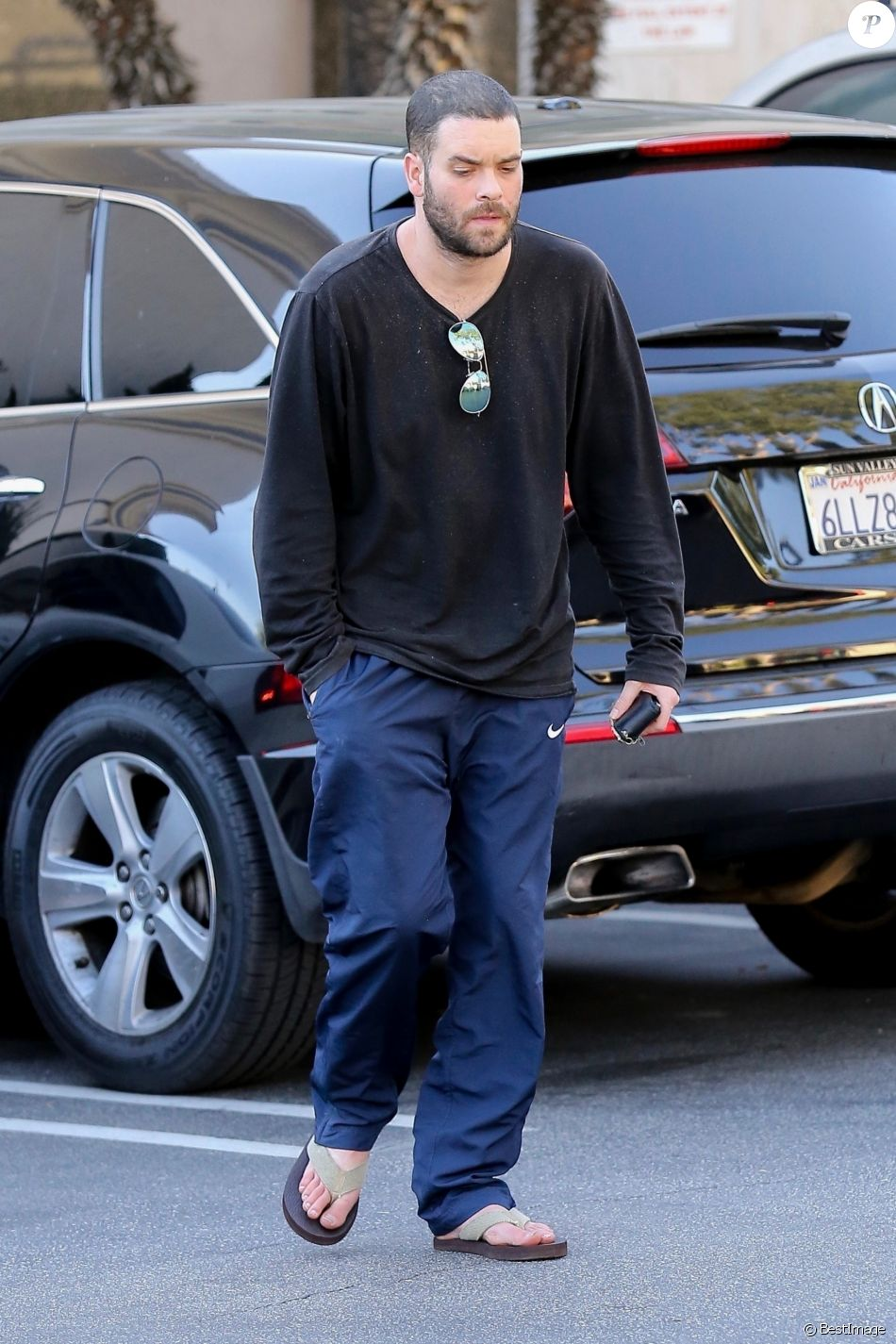 Exclusif - L'acteur de Glee Mark Salling à Los Angeles le 6 octobre 2017.