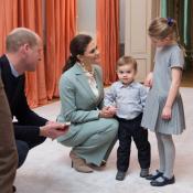 Estelle et Oscar de Suède : Adorable goûter avec Kate Middleton et William