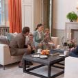 La duchesse Catherine de Cambridge et le prince William ont été accueillis pour le thé par la princesse Victoria et le prince Daniel de Suède chez eux au palais Haga, à Stockholm, en compagnie de leurs enfants la princesse Estelle et le prince Oscar, le 31 janvier 2018 lors de leur visite officielle. © Rafael Stecksen/Cour royale de Suède