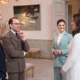 La duchesse Catherine de Cambridge et le prince William ont été accueillis pour le thé par la princesse Victoria et le prince Daniel de Suède chez eux au palais Haga, à Stockholm, le 31 janvier 2018 lors de leur visite officielle. © Rafael Stecksen/Cour royale de Suède