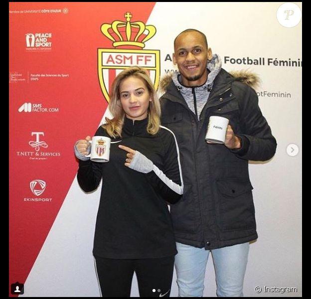 Rebeca Tavares, femme de Fabinho, a signé avec la section féminine de l'AS Monaco. Instagram, le 31 janvier 2018.