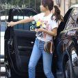 Selena Gomez est allée rendre visite à une amie à Los Angeles, le 31 janvier 2018