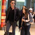 Exclusif - Hugh Jackman arrive avec sa femme Debbie-Lee Furness et leurs enfants Ava et Oscar à l'aéroport de Sydney Australie le 25 juillet 2017 en provenance de Melbourne