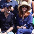 Bruno Solo et sa femme Véronique dans les tribunes lors des internationaux de France de Roland Garros à Paris, le 31 mai 2017. © - Dominique Jacovides - Cyril Moreau/ Bestimage