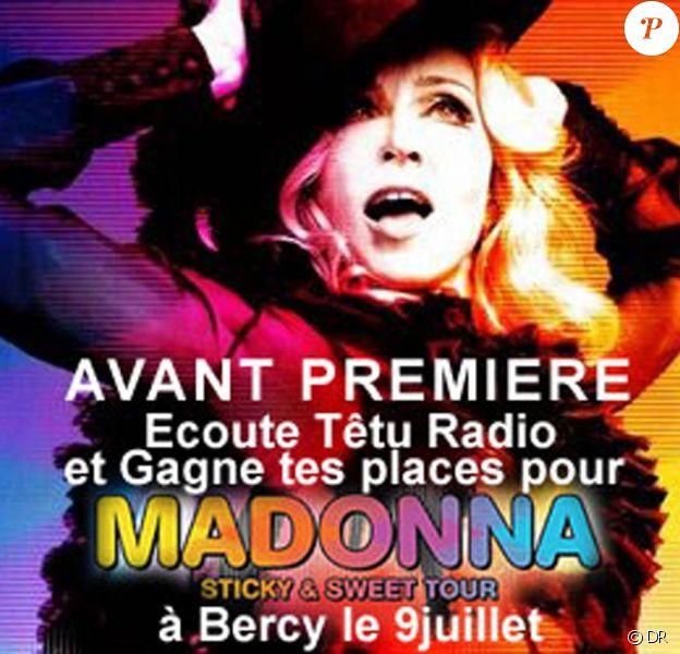 Madonna : son Sticky & Sweet Tour affole les compteurs, et Têtu Radio vous fait gagner vos places pour Bercy !