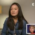 """Véronique Jannot émue par le message d'amour de sa fille adoptive dans """"Vivement Dimanche"""" sur France 2, le 29 novembre 2015."""