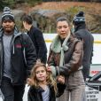 Kourtney Kardashian et sa fille Penelope Disick - Kourtney Kardashian passe la journée avec sa fille et sa nièce à Central Park à New York. Les 2 petites ont fait du patin à glace et se sont amusées sous la pluie. Le 4 février 2018  Please hide children face prior publication Kourtney Kardashian has an all girls day out with her daughter and niece and takes them out for a fun day in Central Park. Kourtney and the girls visited the ice rink and ice skated for the afternoon and later took a light rainy walk through historic Central Park. 4th february 201804/02/2018 - New York