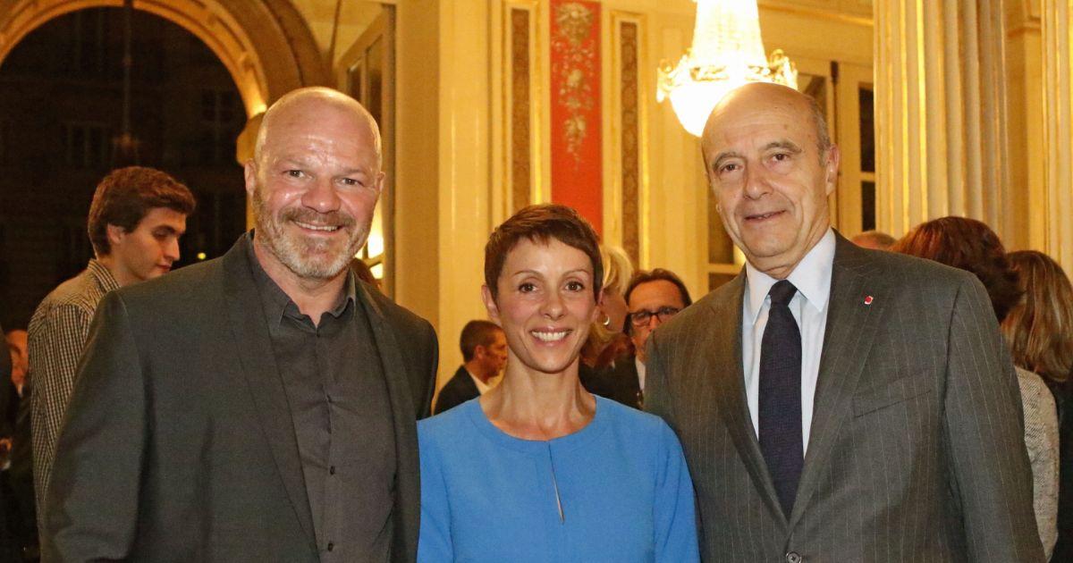 Philippe et sa femme dominique etchebest avec alain jupp maire de bordeaux le chef bordelais - Le 4eme mur bordeaux ...