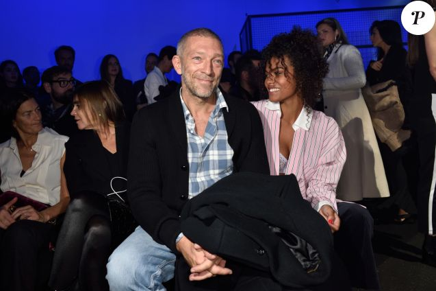 Tina Kunakey et Vincent Cassel à Paris, le 23 janvier 2018.