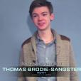 Thomas Brodie-Sangster lors des castings du Labyrinthe.