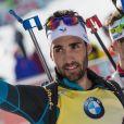 Martin Fourcade champion du monde de poursuite aux Mondiaux de biathlon à Hochfilzen, Autriche, le 12 février 2017.