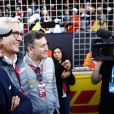 Orlando Bloom et Alejandro Agag au FIA Formula E Marrakech E-Grand Prix le 13 janvier 2018