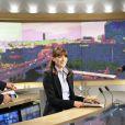 Carla Bruni-Sarkozy au journal télévisé de 13 heures de TF1. 16 mai 2011