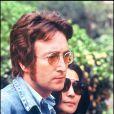John Lennon et Yoko Ono en 1971 lors du festival de Cannes