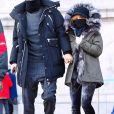 Exclusif - Shakira, son mari Gerard Piqué et leurs enfants, Milan et Sasha, sont allés visiter le Musée américain d'Histoire naturelle à New York. Le 29 décembre 2017.